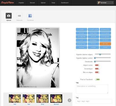 Applicare effetti retro e vintage alle foto online microblog for Effetti foto online